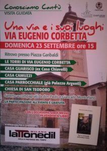 Una via e i suoi Luoghi | via Eugenio Corbetta @ via Eugenio Corbetta | Cantù | Lombardia | Italia