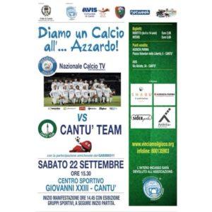 Per un Calcio all'azzardo | Nazionale Calcio TV vs Cantù Team @ Centro sportivo comunale | Cantù | Lombardia | Italia