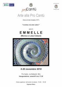 Arte alla Pro Cantù | EMMELLE (Monica e Luisa Colzani) @ Pro Cantù | Cantù | Lombardia | Italia