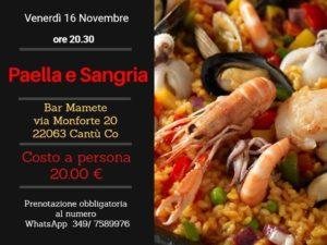 Paella e Sangria - Serata Spagnola @ Mamete Parco Inclusivo Cascina Amata | Cantù | Lombardia | Italia