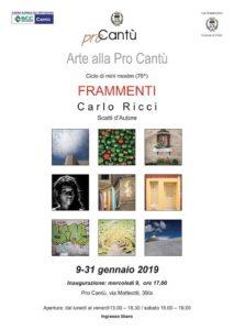 Arte alla Pro Cantù | FRAMMENTI Carlo Ricci @ Pro Cantù | Cantù | Lombardia | Italia