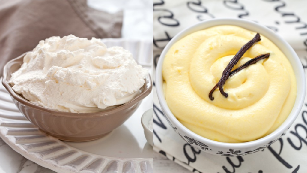 Crema_chantilly_vs_Crema_diplomatica