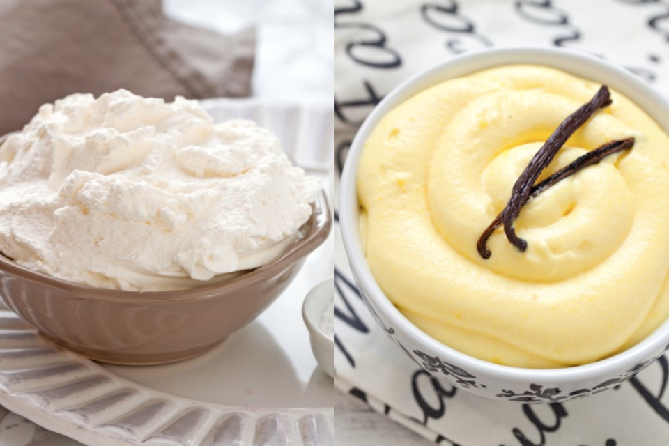 Crema chantilly VS crema diplomatica (o chantilly all'italiana) | Dolci e More