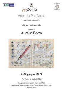 Arte alla Pro Cantù | Viaggio esistenziale - opere di Aurelio Porro @ Pro Cantù | Cantù | Lombardia | Italia