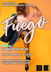 FUEGO reggaeton night | animazione maschile e dj set @ Commercio Cocktail Bar