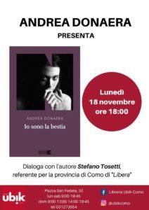 "Andrea Donaera presenta ""Io sono la bestia"" @ Libreria Ubik-Como"