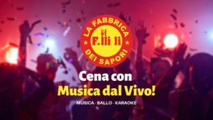 Serata con Musica dal Vivo! @ La Fabbrica dei Sapori - Cantù