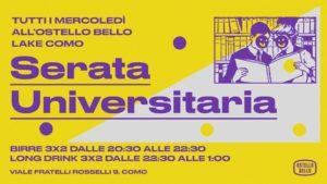 Serata universitaria • Ostello Bello Como @ Ostello Bello Lake Como Hostel