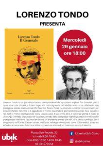 "Lorenzo Tondo presenta ""Il Generale"" @ Libreria Ubik-Como"