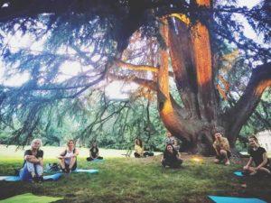 Yoga a villa Olmo, Como @ Villa Olmo